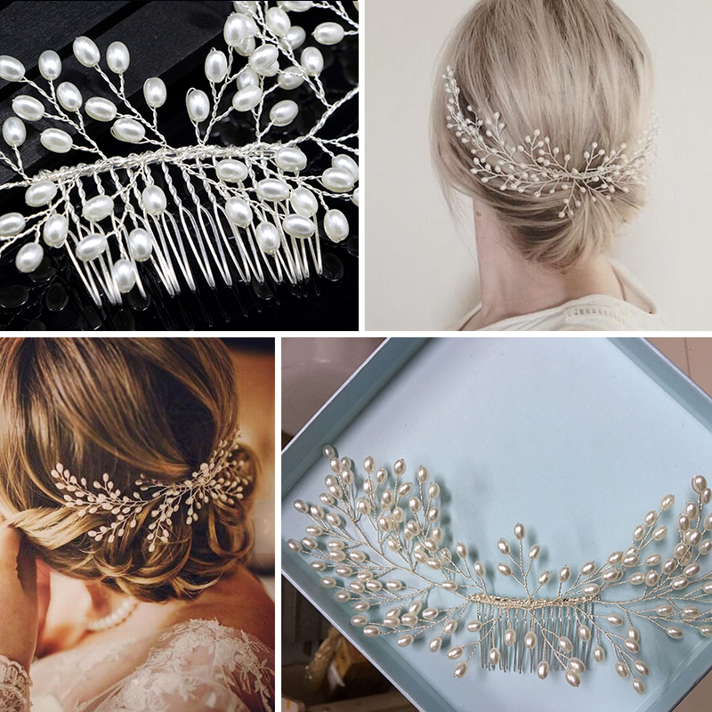 Crystal Butterfly Hairpin Clip Bride Headpiece Bridal Comb Wedding Ornament