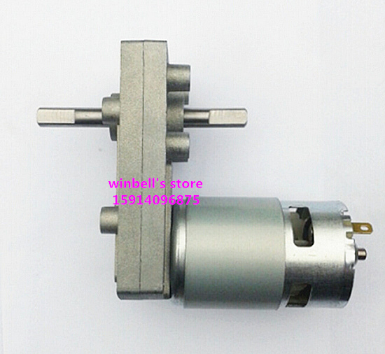 Double Output Shaft Dc Gear Motor V V V At Different Speed Large Torque