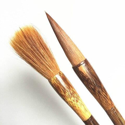 cabelo fuinha caligrafia chinesa pincel de caligrafia pintura chinesa hopper em forma de escova de
