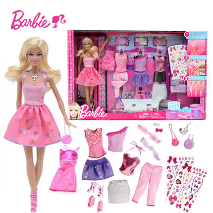 все цены на Barbie Original Doll Toys Princess Designer Fashion Combo American Girll Creative Desi Barbie Clothes Dress For Baby Girls Y7503