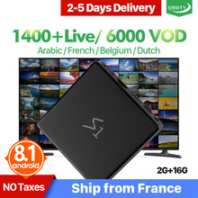 Leadcool S1 Android 8.1 IPTV Arabic France Tunisia Algeria QHDTV RK3229 2+16G 2.4GHz WIFI IP TV Better Than X96Mini TV Box(China)