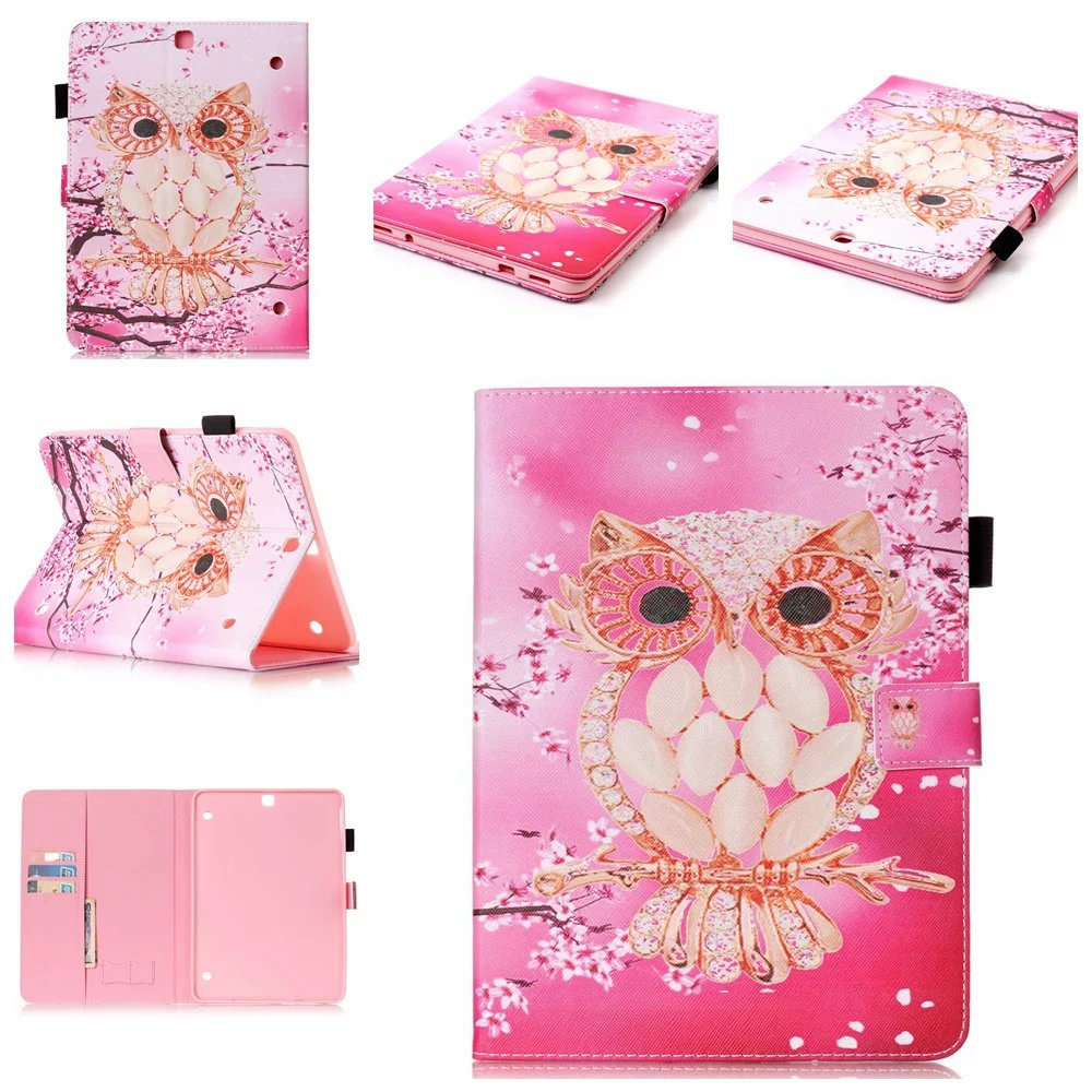 Wallet Coque Fundas For Samsung T810 T815 9.7 Inch PU Leather Case Cover For Samsung Galaxy Tab S2 T810 T815 Painted Cover