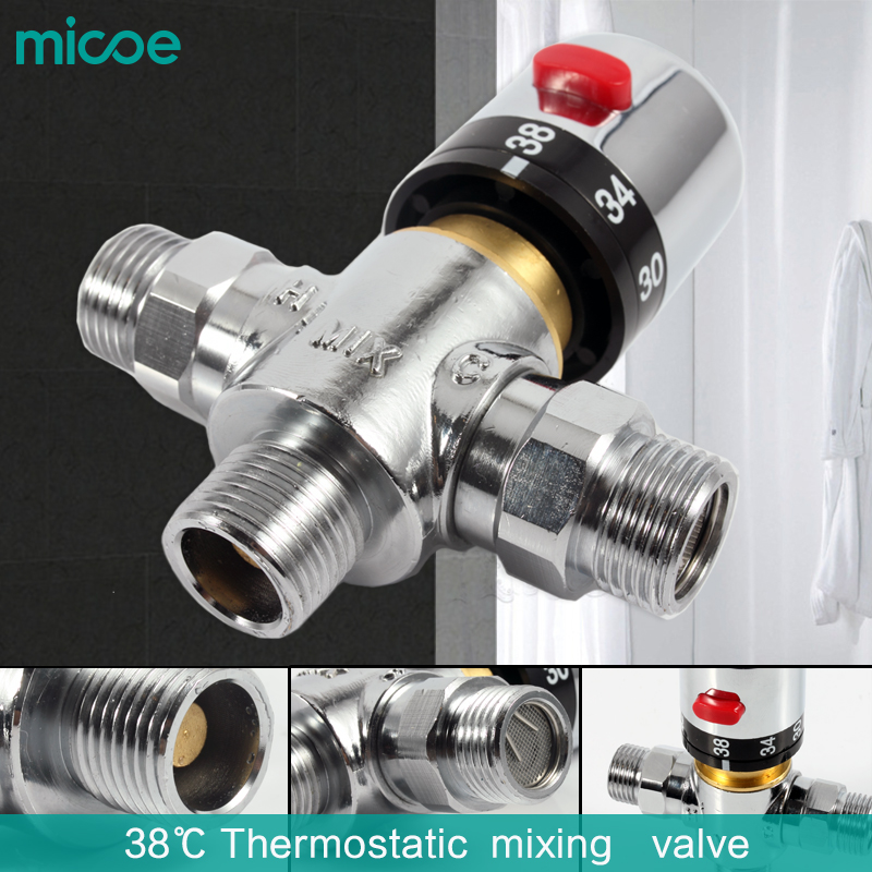 Free Shipping Brass Thermostatic Valve Temperature: Micoe Brass Luxury Thermostatic Mixing Valve Temperature