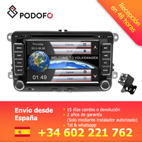 Podofo 2din Car Radio 7'' DVD Player GPS Multimedia Autoradio for Golf Volkswagen MattwayT6 Beetle Scirocco Sharan Kaluwei Kadi