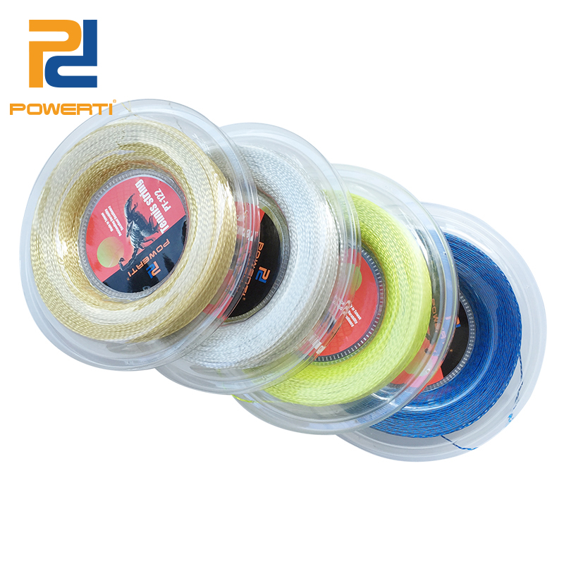 PowerTi 1.30mm Nylon Wire Tennis String Soft Feeling Tennis Racket Strings Durable Control 200m Reel Made in Taiwan new replacement 200m reel racquet tennis string power rough 1 25mm tennis racket string promotion soft nylon tennis racket line