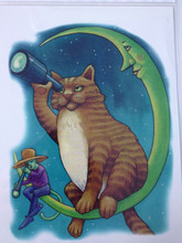 Fat Cat And Moom 21 X 15 CM Temporary Tattoo Stickers Temporary Body Art Waterproof#80