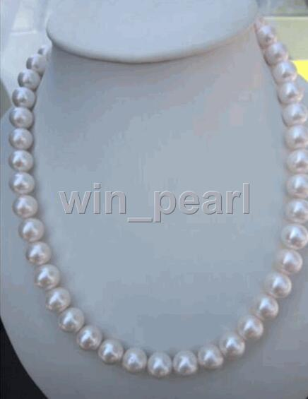 18AAA10-11MM NATURAL Freshwater cultured pearls NECKLACE 14Kgold clasp18AAA10-11MM NATURAL Freshwater cultured pearls NECKLACE 14Kgold clasp