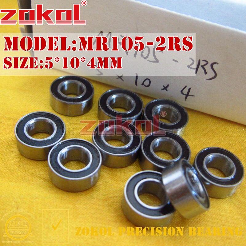 ZOKOL MR105-2RS bearing MR105 2RS Miniature  Deep Groove ball bearing 5*10*4mm boss mr105