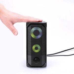 Image 5 - Novas luzes coloridas alto falante do computador 2.0 rgb luz de controle toque portátil mini alto falante super estéreo baixo para o jogo em casa