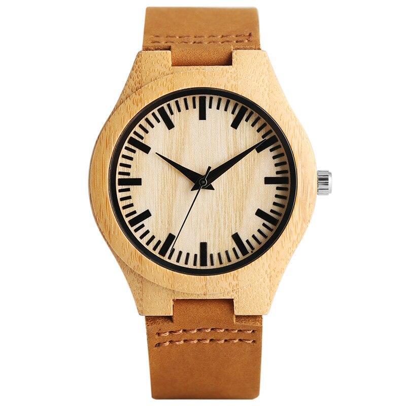 2017 새로운 도착 패션 간단한 디자인 목조 시계 쿼츠 시계 남성 여성 남성을위한 정품 가죽 시계 밴드 럭셔리 선물
