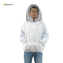 Free Size Professional Beekeeping Uniforms Durable Workwear Full Protecting Veil Smock Safety Beekeeping Coat Jacket