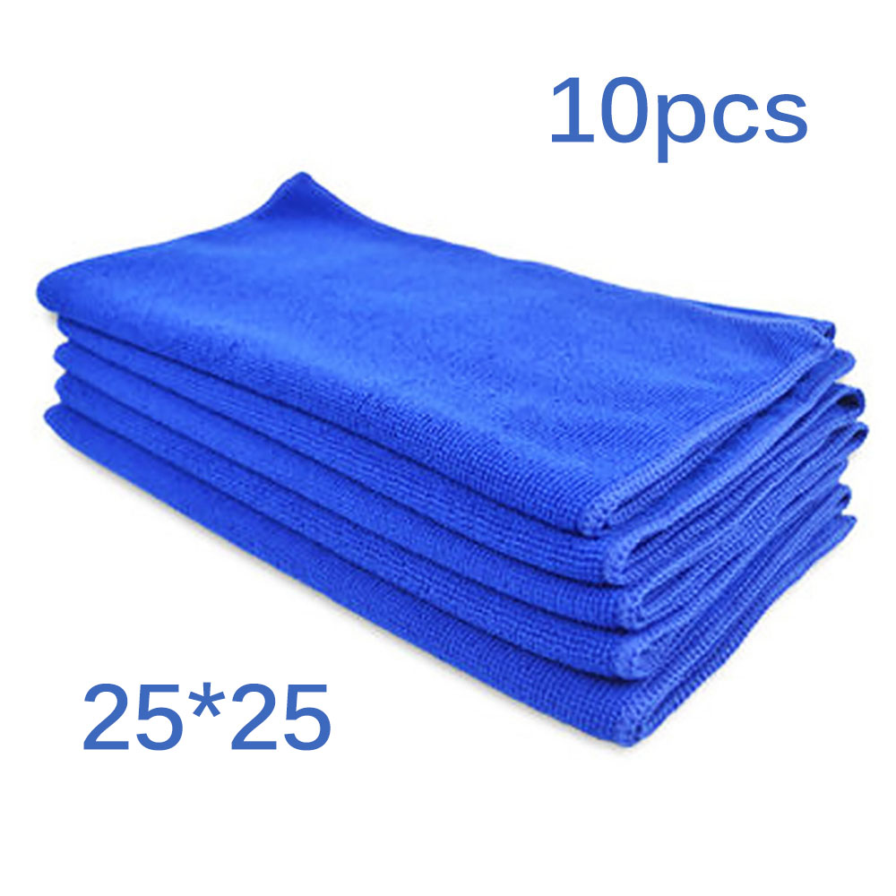 10Pcs cleaning towel Soft Cloths towels Cleaning Duster Microfiber Car Wash Towel Water Absorption Anti-Static Wash Towel(China)