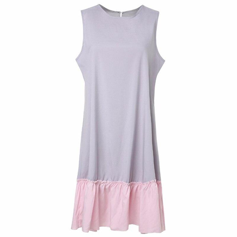 b3dc80aa7 EaseHut las mujeres Boho Vintage Casual suelto vestido impreso vestido de  lino de algodón de manga