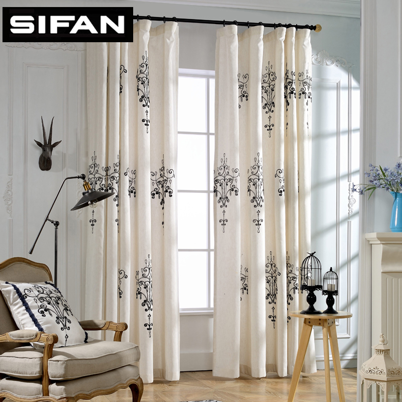 2017 New High Quality Embroidered Blackout Curtains For