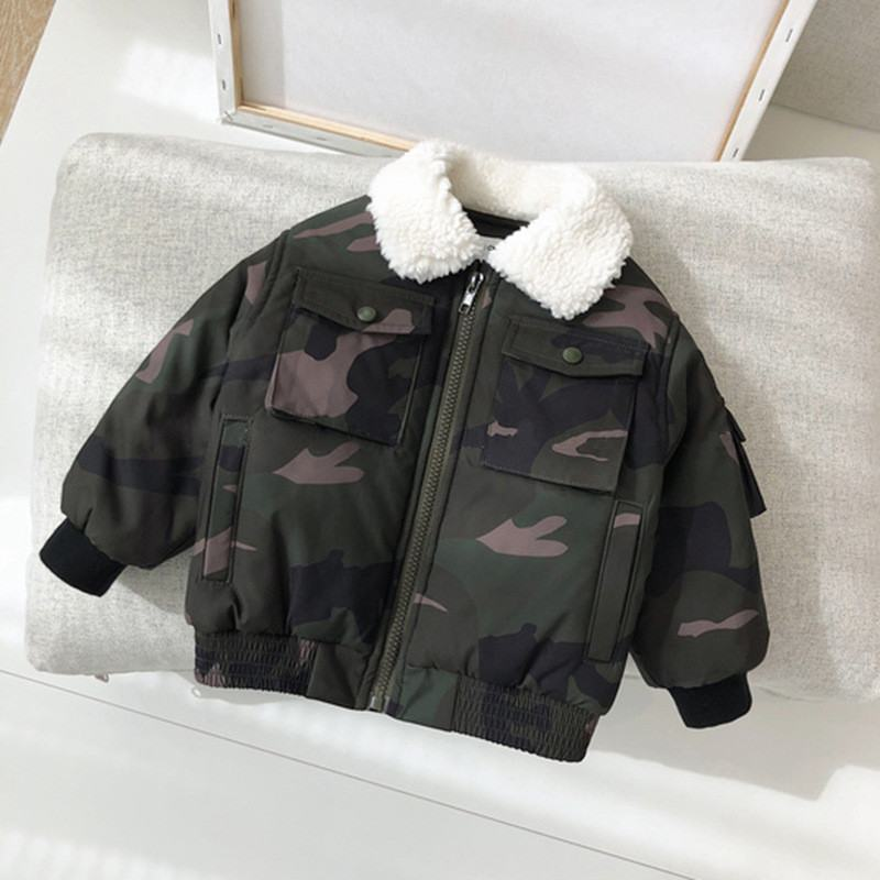 Jackets Coats Camouflage Windbreaker Spring Outerwear Children Baby-Boys Autumn Kids
