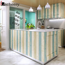 цены 30cm Width Vinyl Waterproof Decorative Film Self Adhesive Wood Contact Paper Cupboard Desk Stickers Living Room Decor Wallpaper