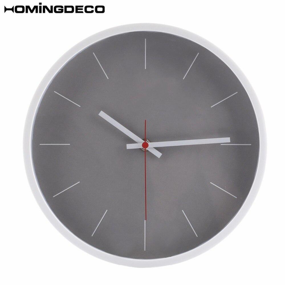 Homingdeco 10inch Simple Wall Clock Quartz Modern Design