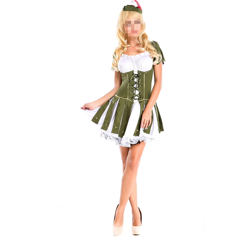 Sexy Women Cosplay Party Costumes Deluxe Racy Robin Hood Costume - Kostum karnival - Foto 1