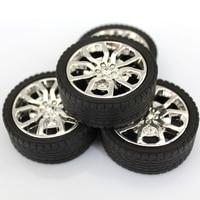 6pcs 2.5x45mm plastic wheel / toy wheel /tamiya / hot wheel/DIY toy accessories/technology model parts