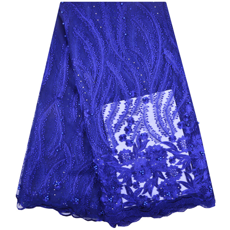 Nigerian French Lace Fabrics 2018 African Tulle Lace Fabric High Quality African Lace Wedding Fabric For