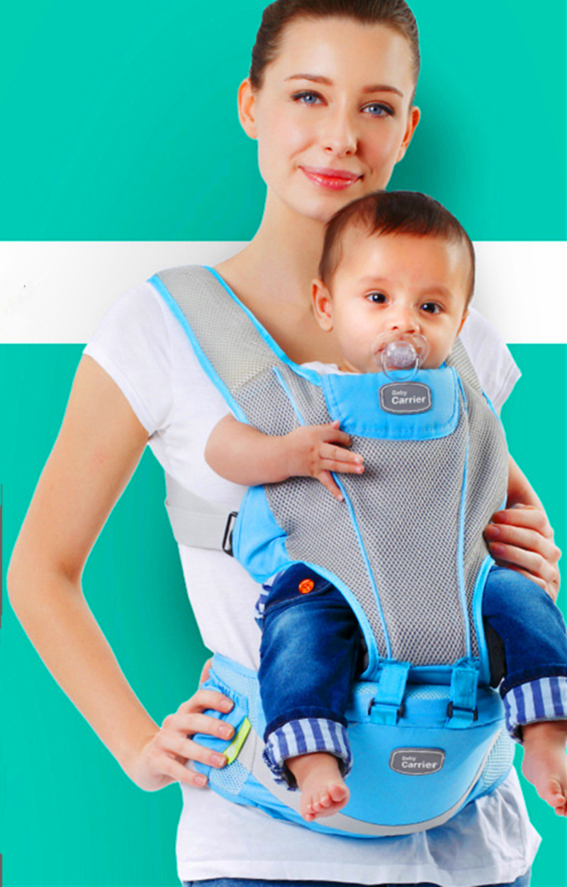 ФОТО 2016 Ergonomic baby carrier Adjustable Baby Sling Portable Multifunctional kid carriage wrap sling