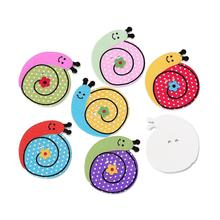 Snail doreenbeads at holes sewing scrapbooking random wood two button x