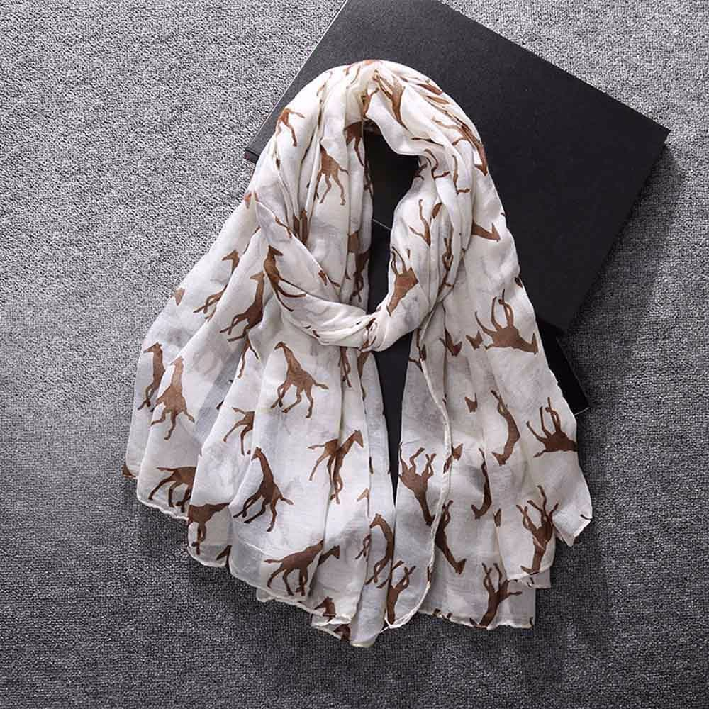 2019 NICE Women Ladies Giraffe Print Pattern Long   Scarf   Warm   Wrap   Shawl 2.20