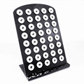 Newest Acrylic Snap Button Stands Display Detachable Set Snap Button Jewelry for 40pcs Snap Button Display 21*15cm