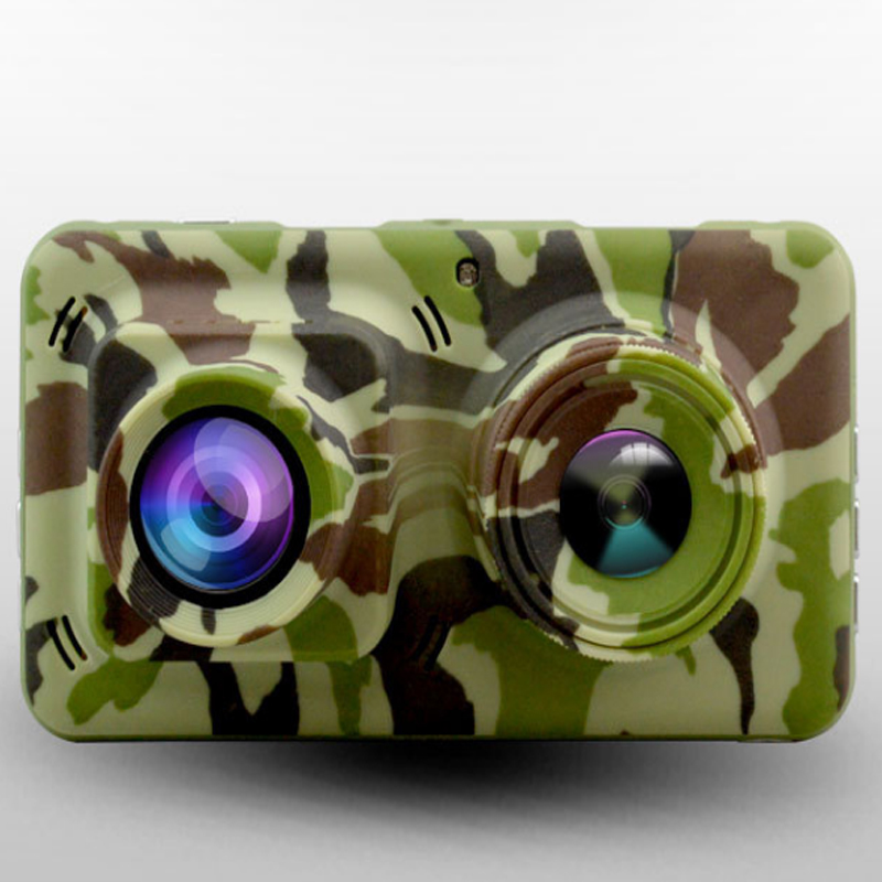 1080P Dual Lens Camouflage Infrared Night Vision Camera with 4 5 LTPS TFT LCD HDMI G