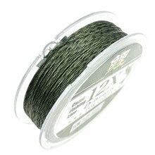 12 strings 50 M hooklink line Carp fishing soft Hook Link  Uncoated Braid Line for Hair Rig  green brown more smoothly leader