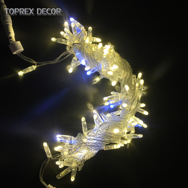 Image 2 - 32.8ft warm white with flashing LED string christmas lights outdoor fairy lights wedding decoration party lightsLighting Strings   -