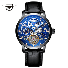 Luxury Switzerland AILANG Brand Men watch male Self-wind waterproof stainless steel automatic mechanical blue fashion Tourbillon ailang men s watch stainless steel flywheel automatic mechanical watch hollow multifunctional waterproof personality men s watch