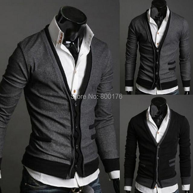 Frete grátis Bolso lã cashmere masculino cardigan outerwear bolso homem importados lã suéter outono M-XL