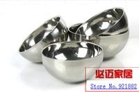 7pcs/set Wholesale stainless steel double bowl insulation against hot kindergarten children Bowl 11.5 18CM