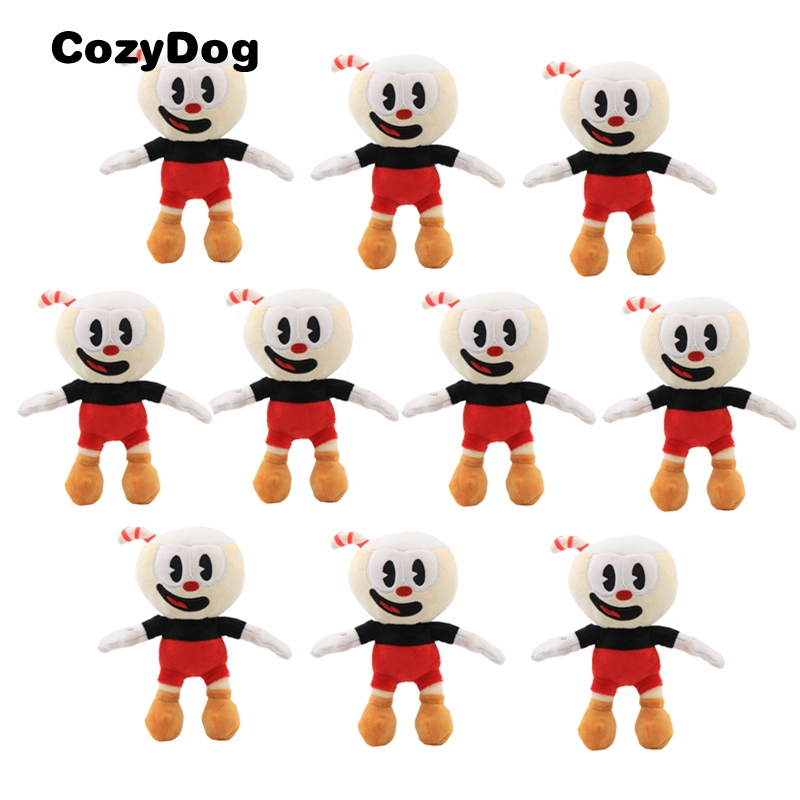 Wholesale 10 Piece Hot Sale Cuphead Plush Toy Doll Game Cuphead Stuffed Toys for Children 23 cm  9 inch Red Color stuffed toy
