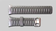 شحن مجاني الأصلي 22 ملليمتر أسود سيليكون المطاط ووتش الشريط للماء الرياضة ووتش باند ل wristswatch spovan SPV709 SPV710