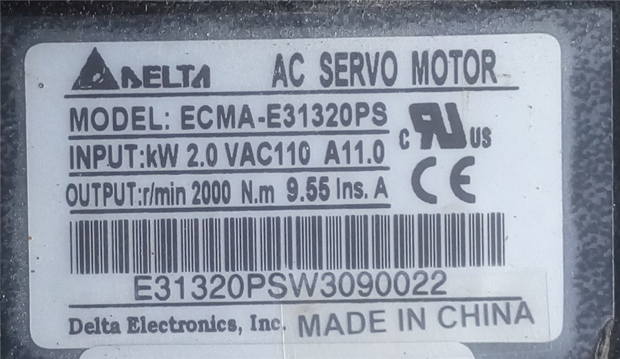 ECMA-E31320PS+ASD-A2023-AB DELTA 2kw 2000rpm 9.55N.m ASDA-AB AC servo motor driver kits with 3m power and encoder cable original delta ecma c30602es ab 200w servo driver warranty for 1 year