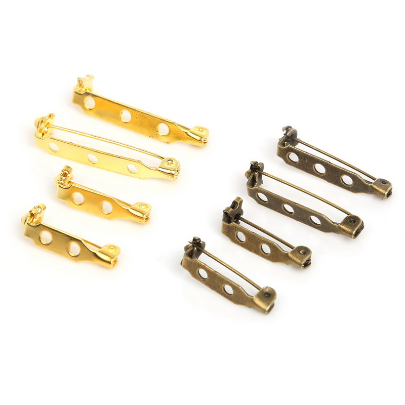 30pcs Safety Brooch Pins Plated Gold/Plated Antique Iron Bronze Jewelry Accessory Jewelry Brooch Making DIY Jewelry Findings