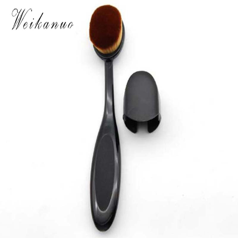 1pc Toothbrush Pro Cosmetics Makeup Brushes Face Powder Curve Foundation Single Branch Ultra-fine Fiber Hair Brush Beauty Women