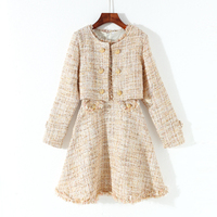 New Winter With A Small Incense Was Thin Dress Fashion Vest Skirt Short Paragraph Suit Female