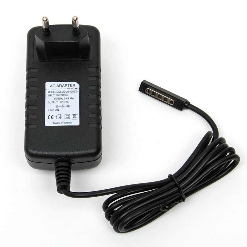Eu/us cắm power adapter sạc tablet 12 v 2a cho microsoft surface 10.6 surface rt của windows 8 tablet pin tường tablet sạc
