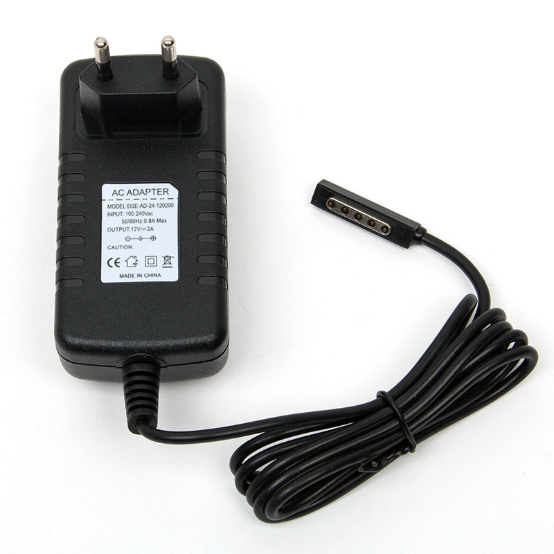 EU US Plug Power Adapter Tablet Charger 12V 2A For Microsoft Surface 10 6 RT Windows