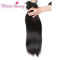 Merveille la Beauté Indien Extensions de Cheveux Humains Droite 3 bundles offre naturel Noir Couleur Mixte Longueur de 8 pouces à 30 pouces