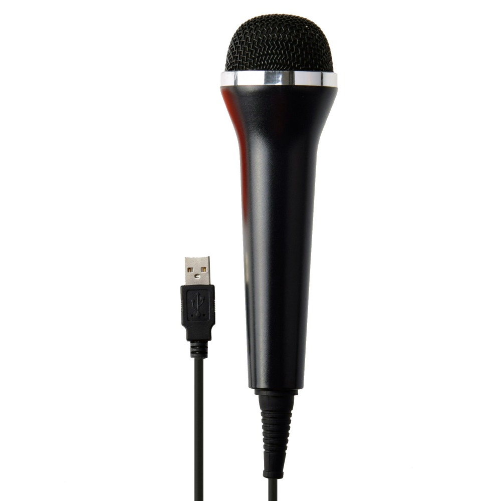 buy universal usb wired karaoke mic microphone for ps4 for xbox one for wii pc. Black Bedroom Furniture Sets. Home Design Ideas