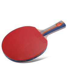 цена на Original Double fish 1star 1A table tennis racket racquet wood Pinpong Bat Flared Handle Paddle for Beginner and Recreational