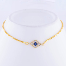 Blue Zircon Charm Bracelet For Women