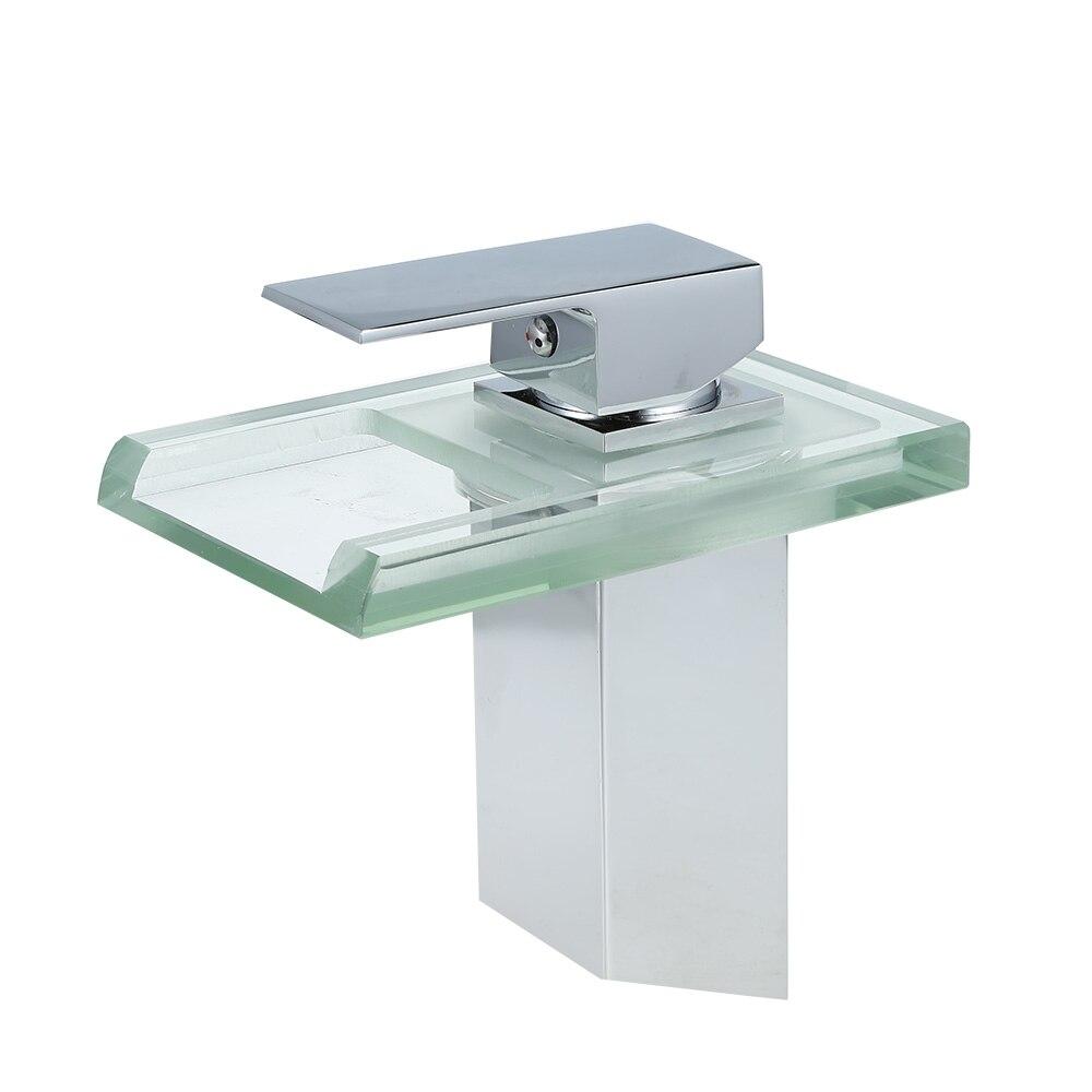 LED change verre cascade salle de bain baignoire évier bassin robinet mitigeur mitigeur cuisine robinet d'eau accessoires de cuisine