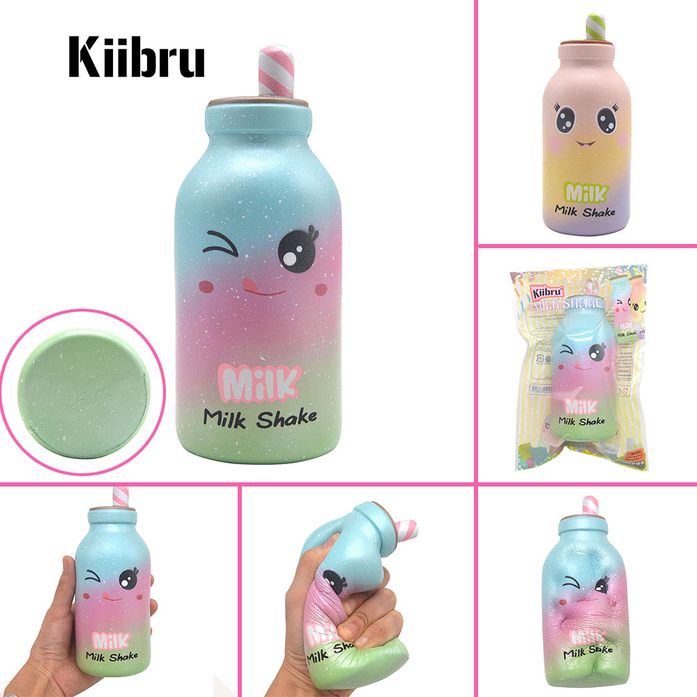 12PCS Wholesale Squishy Slow Rising Kiibru Milk Shake Cartoon Cute Scented Bread Toys Gift Decor Original