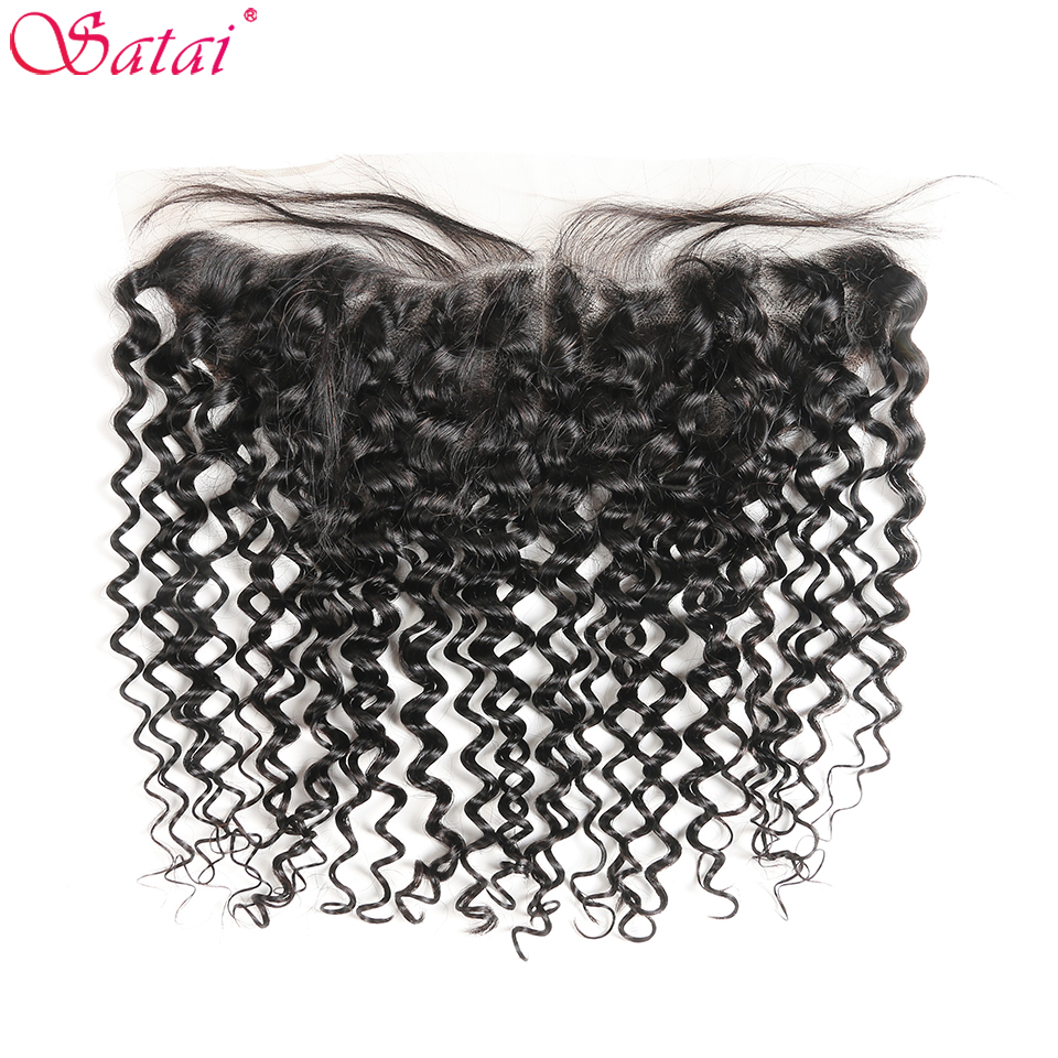 Satai Hair Water Wave 13x4 Ear To Ear Pre Plucked Lace Frontal With Bleached Knots 100