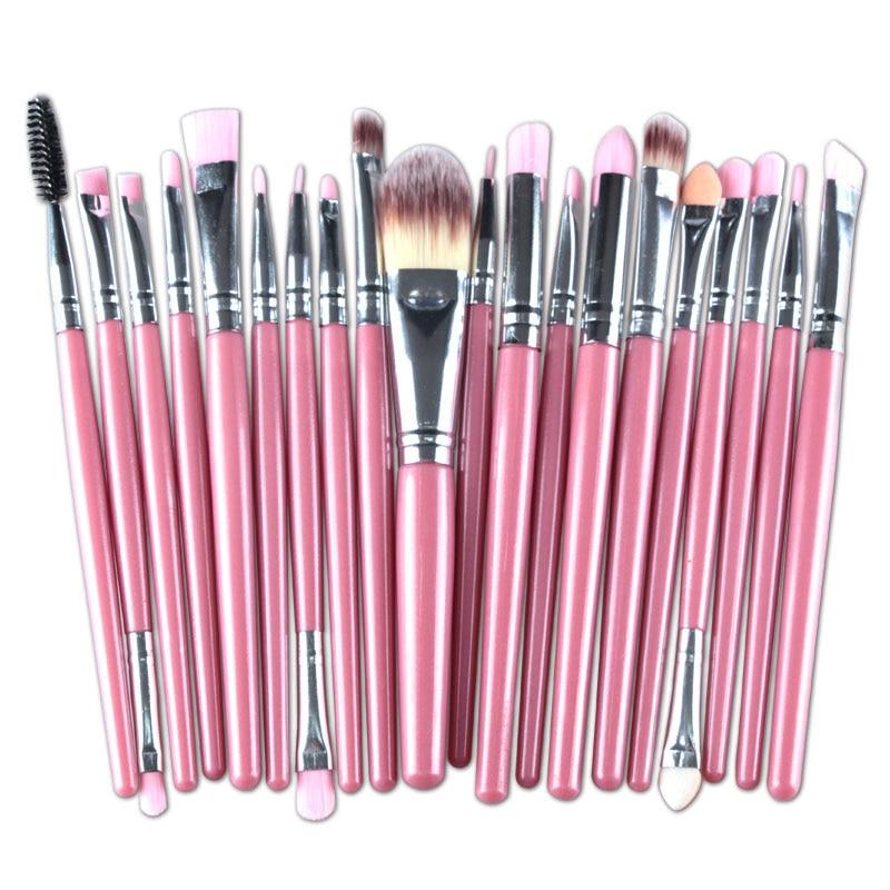 20pcs Eyes Brushes Set Eyeshadow Eyebrow Eyelashes Eyeliner Lip Makeup Brush Sponge Smudge Brush Cosmetic pincel maquiagem (9)